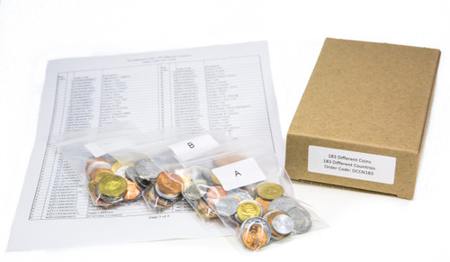 183 Different coins from 183 different countries (U)