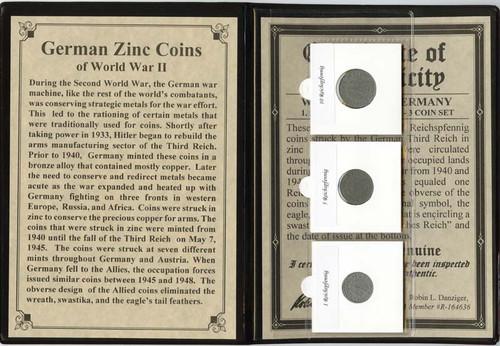 German Zinc Coins of World War II Album (C)
