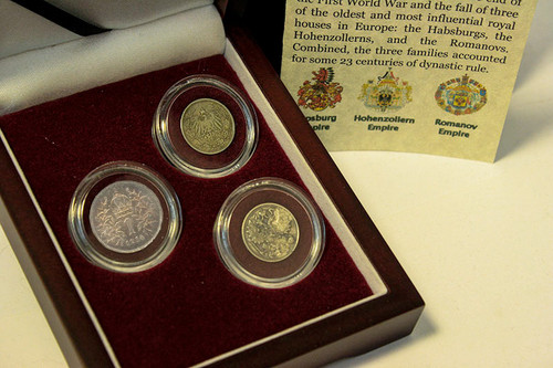 The Last Royal Houses Of Europe: Box of 3 Silver Coins