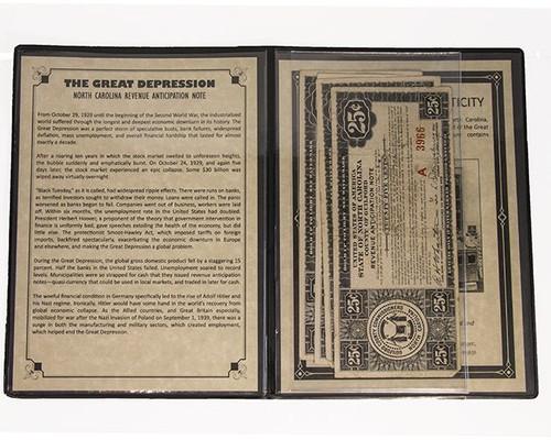 Great Depression Album: North Carolina Revenue Anticipation Notes
