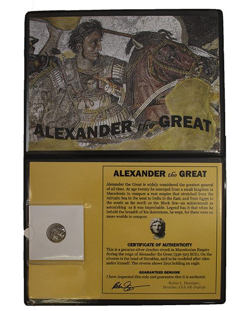 336-323 B.C. Alexander The Great Silver Drachm in Display
