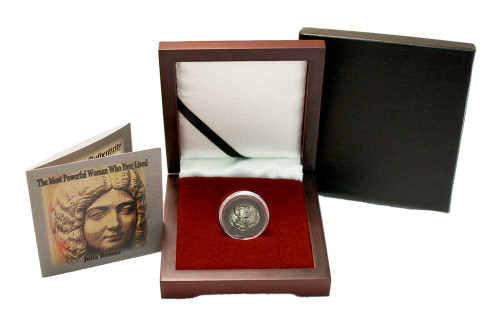 The Most Powerful Woman Who Ever Lived: Box of Silver Roman Denarius of Julia Domna