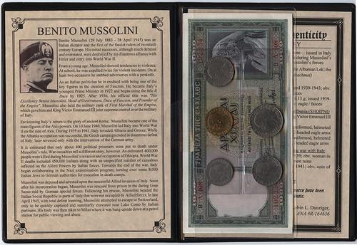 Benito Mussolini: Dictator Of Italy Album (C)