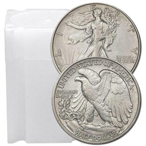 1916-1947 Walking Liberty Half Dollar XF/AU (Roll of 20)