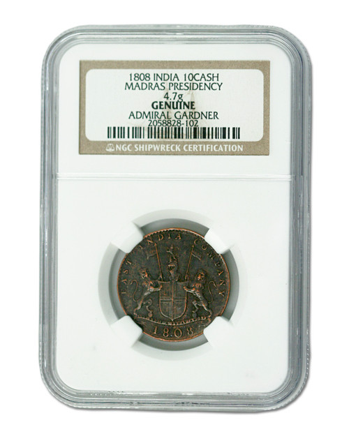 Admiral Gardner (1808) Shipwreck Treasure 10 Cash NGC (High grade)
