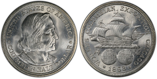 1892/1893 Columbian Half Dollar Brilliant Uncirculated - The First Commemorative