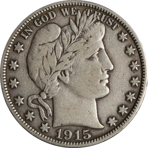 1892-1915 Barber Half Dollar - Circulated