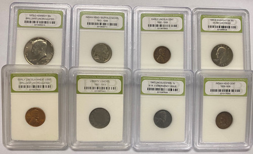 Mixed Coins INB Certified - (Super Cheap!)