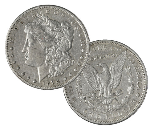 1878-1893-CC Morgan Silver Dollar Circulated - Coins of the Wild West