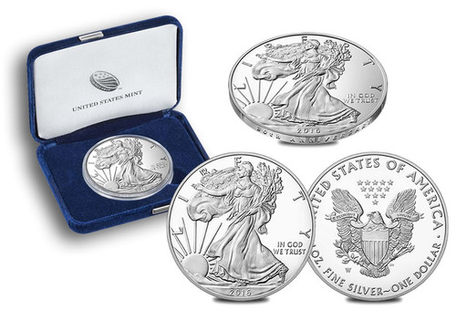 2016-W Proof Silver Eagle (OGP & Papers)