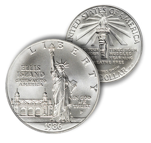 1986 Statue of Liberty Silver Dollar Brilliant Uncirculated