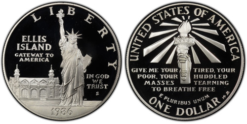 1986 Statue of Liberty Silver Dollar GEM Proof
