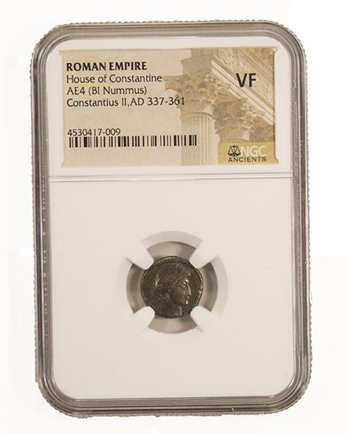 Roman AE of Constantius II (AD 317-361) NGC (VF)