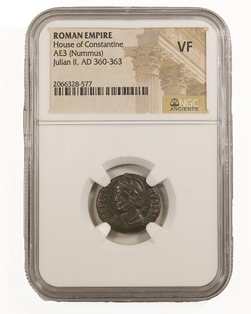 Roman AE of Julian II (As Ceaser)(AD 361-363) NGC (VF)