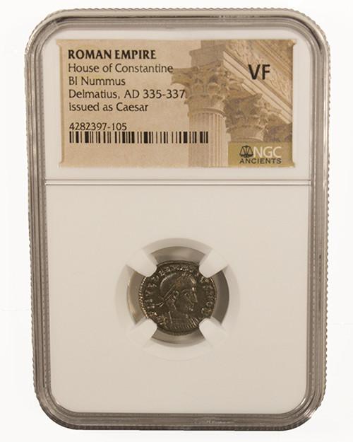 Roman AE of Delmatius (AD 335-337) NGC (VF)