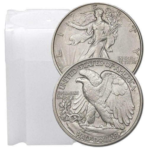 1916-1947 Walking Liberty Half Dollar Almost Uncirculated (Roll of 20)