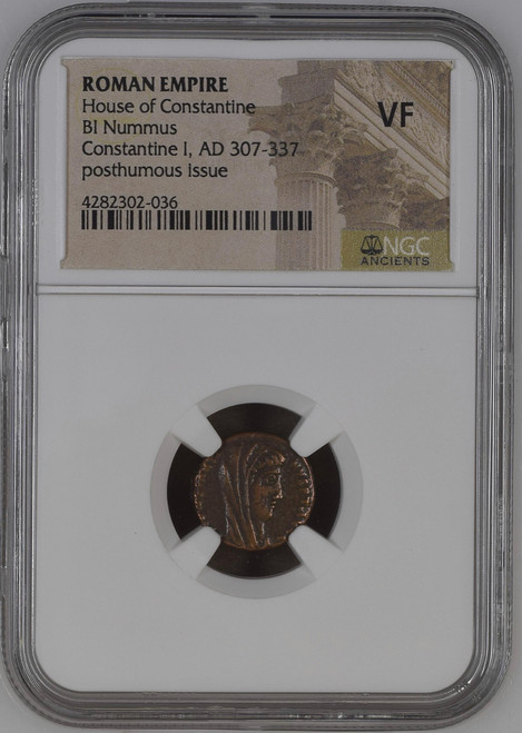 Bronze Roman Constantine I Manus Dei (AD 337-340) NGC VF - The Hand of God