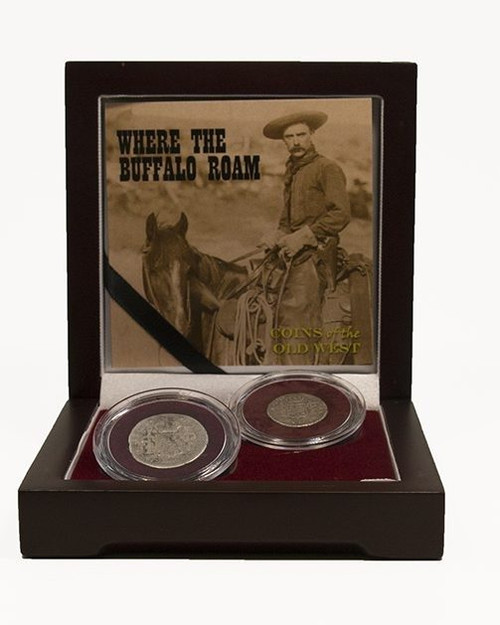 Where the Buffalo Roam - Coins of the Old West (2-Coin Box) in box