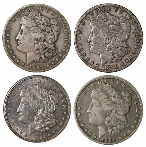 Morgan Silver Dollar 4-Pc Mintmark Set (P,D,S,O)