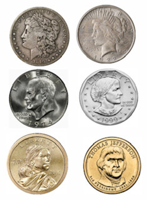 Complete Dollar Coin Collection - 6 Coins