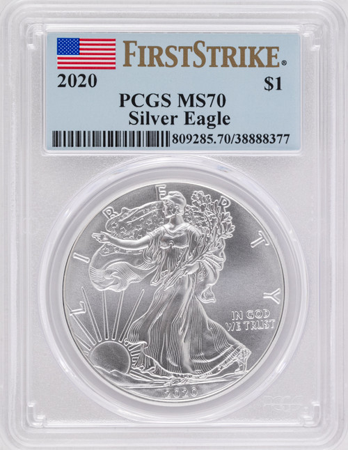 2020 Silver Eagle PCGS MS70 First Strike - Type 1