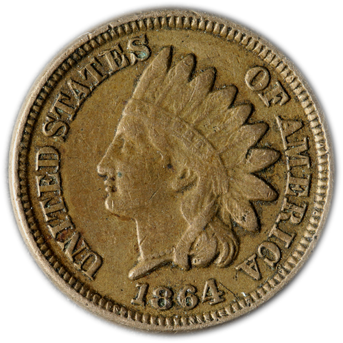 1859-1864 Copper Nickel (CN) Indian Head Cent