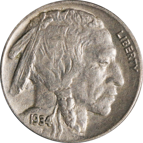 1934 Buffalo Nickel Circulated