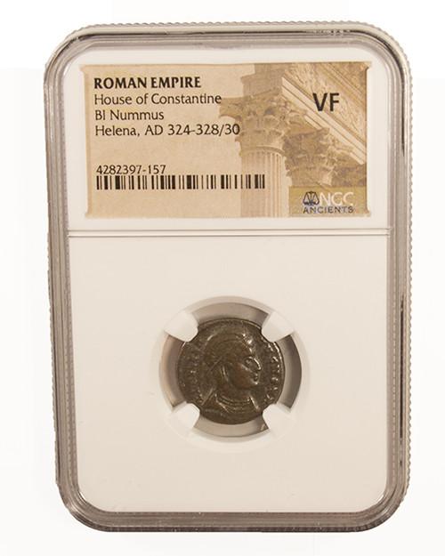 Roman AE of Helena (AD 324-337) NGC (VF)
