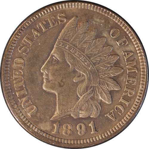 1891 Indian Head Penny - Circulated