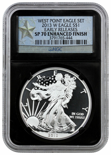 2013-W Enhanced Silver Eagle NGC SP70 Early Releases