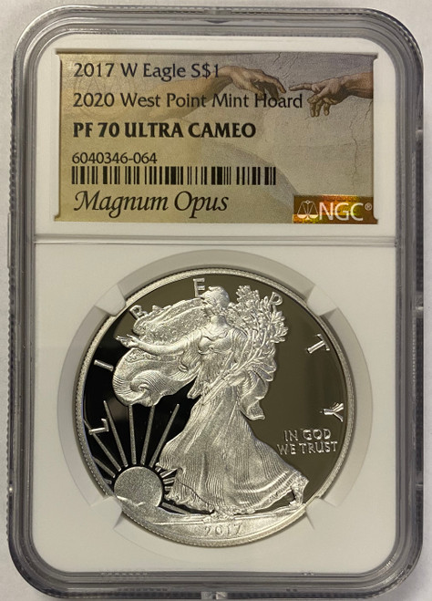2017-W (2020) Proof Silver Eagle NGC PF70 UCAM (West Point Mint Hoard) - Magnum Opus