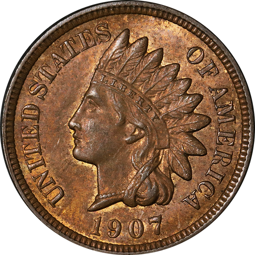 1907 Indian Head Penny - Circulated