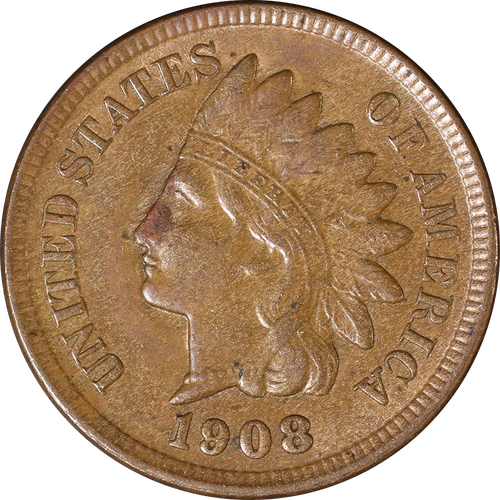 1908 Indian Head Penny - Circulated