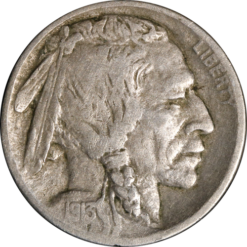 1913 Buffalo Nickel Circulated - First Year Of Issue