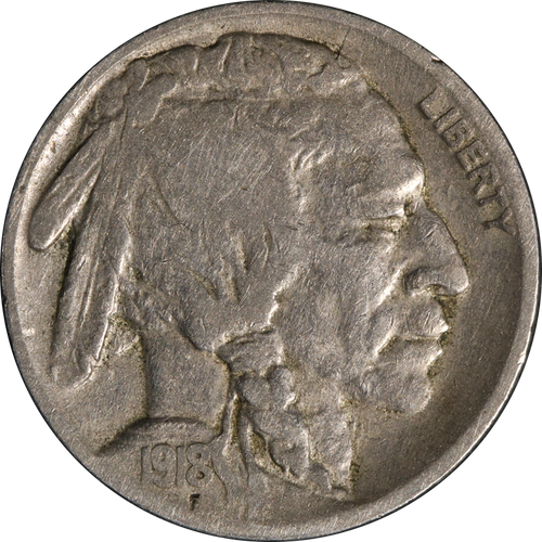 1918 Buffalo Nickel Circulated