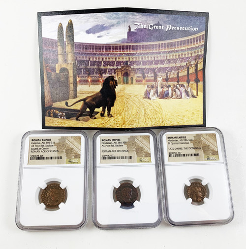 A Collection of Three Roman Coins NGC Certified - The Great Persecution
