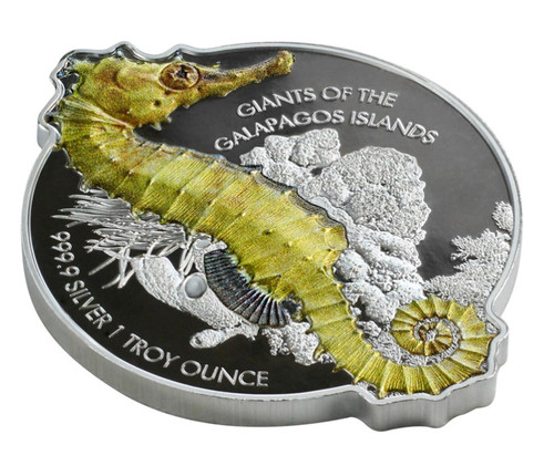 2020 Solomon $2 1 oz Silver Giants of Galapagos Giant Seahorse Reverse Proof