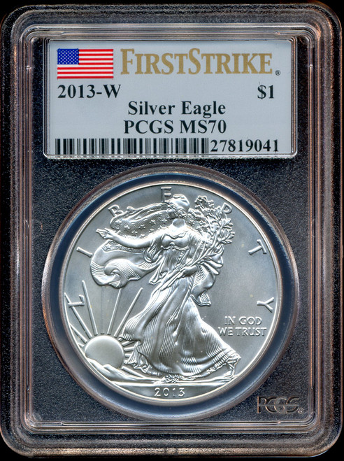 2013-W Burnished Silver Eagle PCGS MS70 First Strike