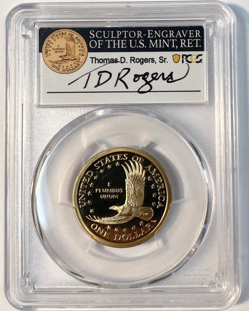 2000-S Sacagawea Dollar PCGS GEM Proof T.D. Rogers Signed
