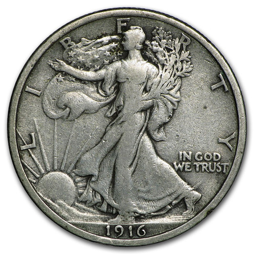 1916 Walking Liberty Half Dollar - The First Minted