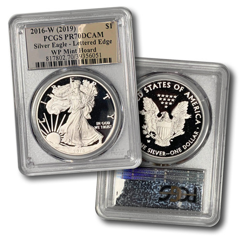 2016-W Proof Silver Eagle PCGS PR70 DCAM (West Point Mint Hoard) - Exclusive Silver Foil Label