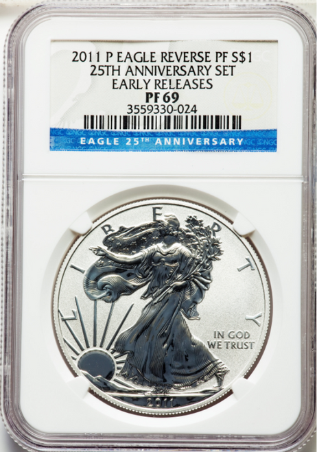 2011-P Silver Eagle NGC Reverse PF69 Early Releases