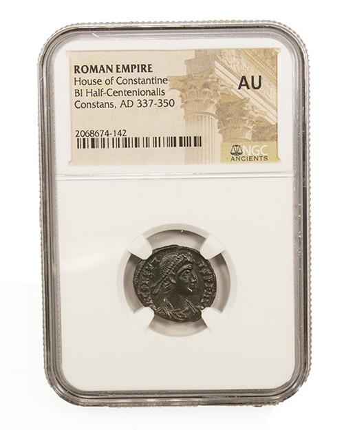 Roman AE of Constans (AD 221-350) NGC (AU)