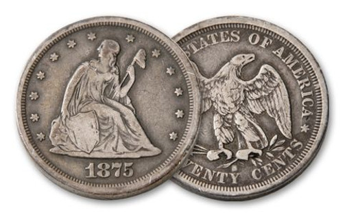 1875-1878 Twenty Cent Seated Liberty - The Only 20c Coin