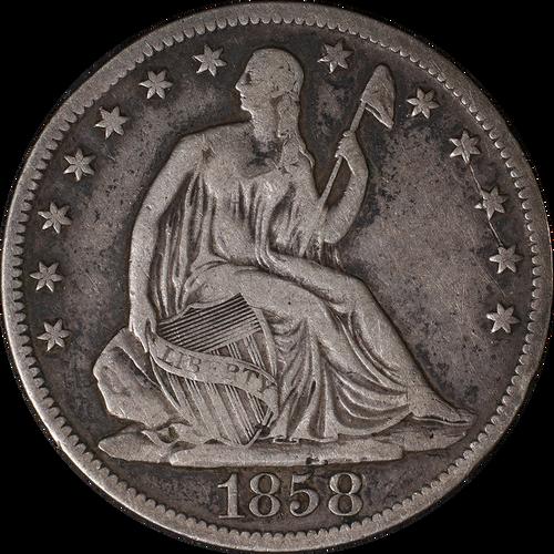 1839-1891 Seated Liberty Half Dollar