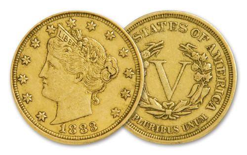 1883 Racketeer Nickel - Gold Plated