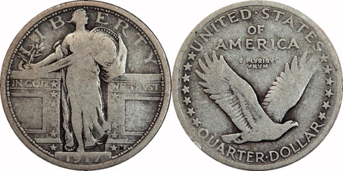 1917 Standing Liberty Quarter Type 1 - The Most Infamous Coin