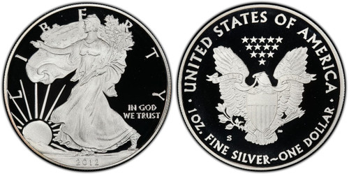 2012-S Proof Silver Eagle - Limited 75th Anniversary