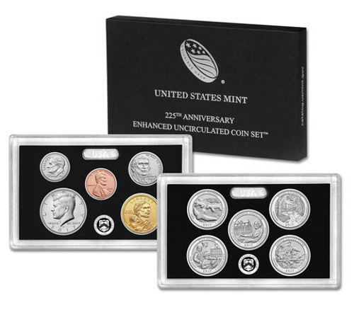 2017 225th Anniversary Enhanced Uncirculated 10-Coin Set OGP