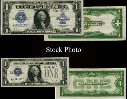"""1923 & 1928 $1 Silver Certificate """"Changing Times"""" - 2 pc Set"""